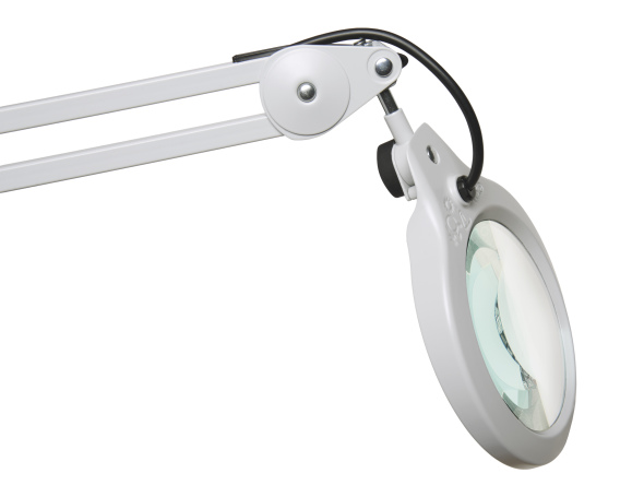 Light Gray 5 Diopter Edge Clamp Luxo 18352LG LFM LED Illuminated Magnifier 30 Arm